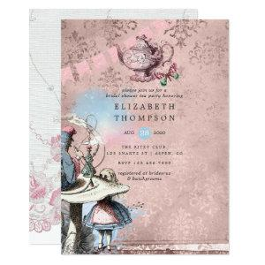 Alice In Wonderland Bridal Shower Tea Party Invitation starting at 2.66