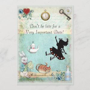 Alice in Wonderland Don't Be Late Bridal Shower starting at 2.66