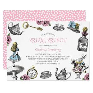Alice in Wonderland Pink Bridal Brunch Invitation starting at 2.40