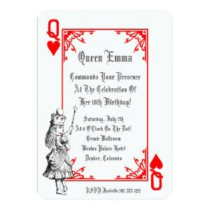 Alice In Wonderland Playing Card  Party Invitation starting at 3.18