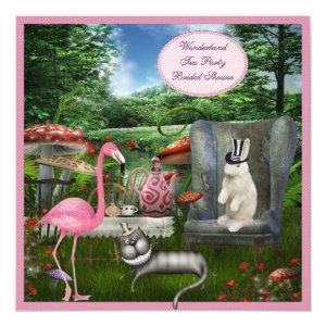 Alice in Wonderland Tea Party Bridal Shower Invitation starting at 2.51