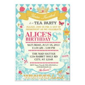 Alice In Wonderland Tea Party Invitation starting at 2.77