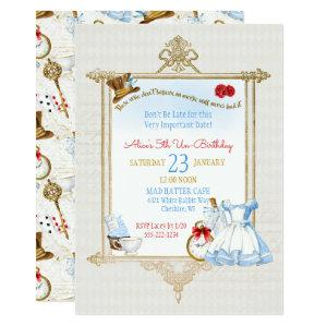 Alice in Wonderland Watercolor Invitation starting at 2.66