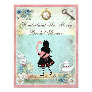 Alice & Pink Flamingo Bridal Shower Invitation starting at 2.31