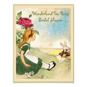 Alice & White Rabbit Wonderland Bridal Shower Invitation starting at 2.31