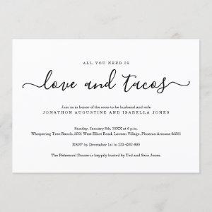 All You Need is Love and Tacos Rehearsal Dinner starting at 2.40