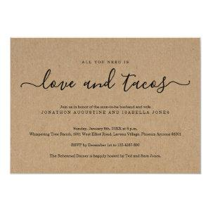 All You Need is Love and Tacos Rehearsal Dinner Invitation starting at 2.40