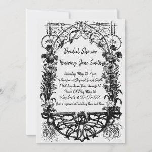 Antique Ornate Rustic Monochrome Floral starting at 2.82