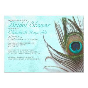 Antique Peacock Feather Bridal Shower Invitations starting at 2.66