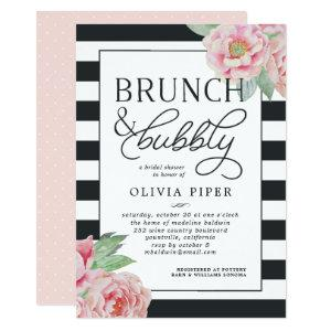 Antique Peony Brunch & Bubbly Bridal Shower Invite starting at 2.51