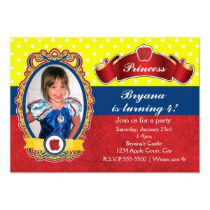 Apple Princess Birthday Party Photo Invitations starting at 2.61