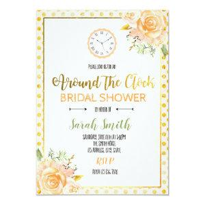 Around the clock bridal shower card starting at 2.56