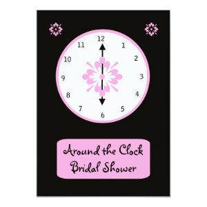 Around the Clock Bridal Shower Invitation -- Pink starting at 2.61