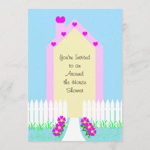 Around the House Bridal Shower Invitation -- House starting at 2.61