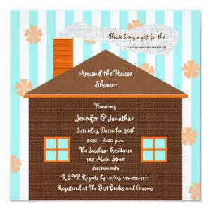 Around the House Bridal Shower Invitation -- House starting at 2.46