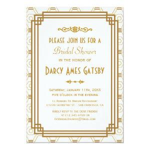 Art Deco Bridal Shower Invitations starting at 2.51