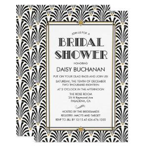 Art Deco Gatsby Bridal Shower Invitation starting at 2.50