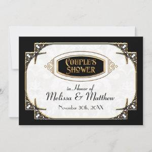 Art Deco Great Gatsby Style Typography n Lace Gold Invitation starting at 3.03
