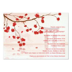 Asian cherry blossom bridal shower invitation starting at 2.66