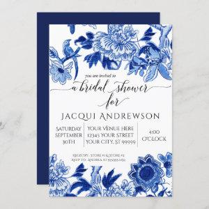 Asian Influence Blue White Floral 2 Bridal Shower starting at 2.40