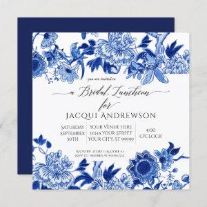 Asian Influence Blue White Floral Bridal Luncheon Invitation starting at 2.30