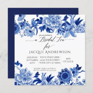 Asian Influence Blue White Floral | Bridal Tea starting at 2.30