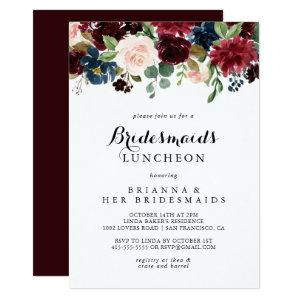 Autumn Calligraphy Bridesmaids Luncheon Shower Invitation starting at 2.26