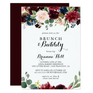 Autumn Calligraphy Brunch and Bubbly Bridal Shower Invitation starting at 2.51