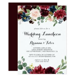 Autumn Calligraphy Wedding Luncheon Bridal Shower Invitation starting at 2.26