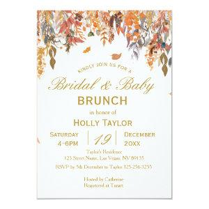 Autumn Combined Baby Shower and Bridal Shower Invitation starting at 2.66