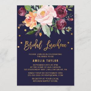 Autumn Floral with Wreath Backing Bridal Luncheon Invitation starting at 2.51