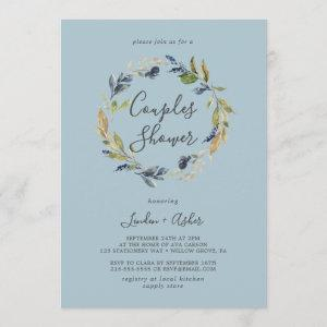 Autumn Greenery Wreath | Slate Couples Shower Invitation starting at 2.51