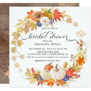 Autumn Leaves Pumpkins Bridal Shower Invitation starting at 2.41