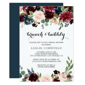 Autumn Rustic Brunch & Bubbly Bridal Shower Invitation starting at 2.26