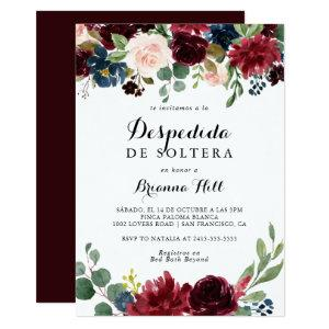 Autumn Rustic Calligraphy Spanish Bridal Shower Invitation starting at 2.51