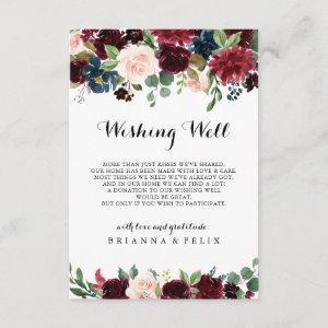 Autumn Rustic Calligraphy Wedding Wishing Well Enclosure Card starting at 1.91