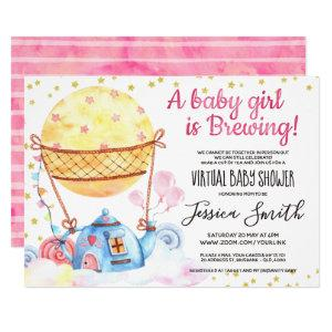 Baby is Brewing Tea Party | Virtual Baby Shower Invitation starting at 2.50