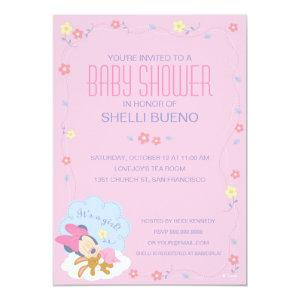 Baby Minnie Mouse Baby Shower Invitation starting at 2.66