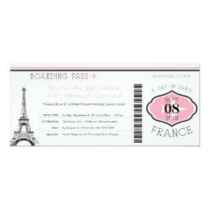 Baby Shower Boarding Pass to Paris Invitation starting at 2.82