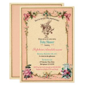 Baby shower tea party pink sip and see invitation starting at 2.30