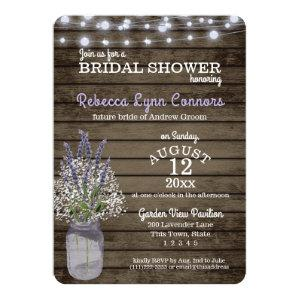 Baby's Breath and Lavender Rustic Bridal Shower Invitation starting at 2.81