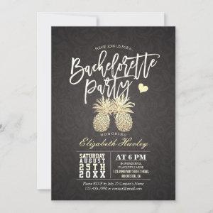 Bachelorette Party Black and Gold Pineapple Couple starting at 2.40