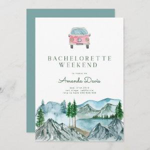Bachelorette Weekend in Woods Cabin Lake Camping  Invitation starting at 2.66