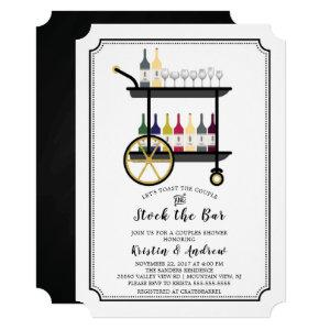 Bar Cart Stock the Bar Couples Shower Invitation starting at 2.65
