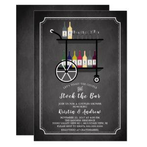 Bar Cart Stock the Bar Couples Shower Invitation starting at 2.40