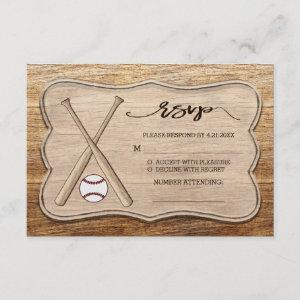 Baseball Bats And Wood Rustic Wedding / Event RSVP starting at 2.11