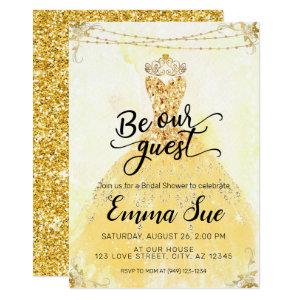 Be our Guest Beauty and the Beast Bridal Shower Invitation starting at 2.45
