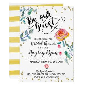 Be Our Guest Bridal Shower Invitation Watercolor starting at 2.45