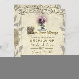 Be Our Guest Enchanted Rose Gold Vintage Wedding Invitation starting at 2.85