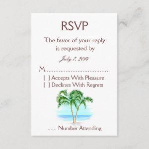 Beach And Palm Trees Wedding RSVP starting at 2.11